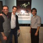 Christopher Rob Bowen with writer's of The Working Dead, brothers Nick and Daniel Sweet.