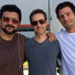 Christopher Rob Bowen with Stephen Cyrus Sepher and Tyler Olsen on set of Heist (Bus 657), starring Robert De Niro.