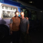 Writer of Heist (Bus 657) Stephen Cyrus Sepher with Christopher Rob Bowen.
