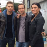 Christopher Rob Bowen with Kellan Lutz (Twilight) and Gina Carano (Deadpool) on set of Extraction starring Bruce Willis.