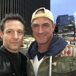 Christopher Rob Bowen and Christopher Meloni hanging out downtown Cincinnati, Marauders.