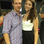 Christopher Rob Bowen with Chelsea Morgenson at a Ricki Maslar casting workshop.
