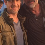 Jeffrey Dean Morgan and Christopher Rob Bowen on set of Heist (Bus 657), starring Robert De Niro.