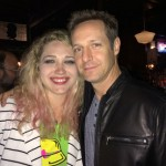 Christopher Rob Bowen and 2nd AD Maggie Ballard at wrap party of Extraction starring Bruce Willis.