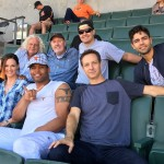 Cast, crew, and producers of Marauders at a Cincinnati Bengals game.